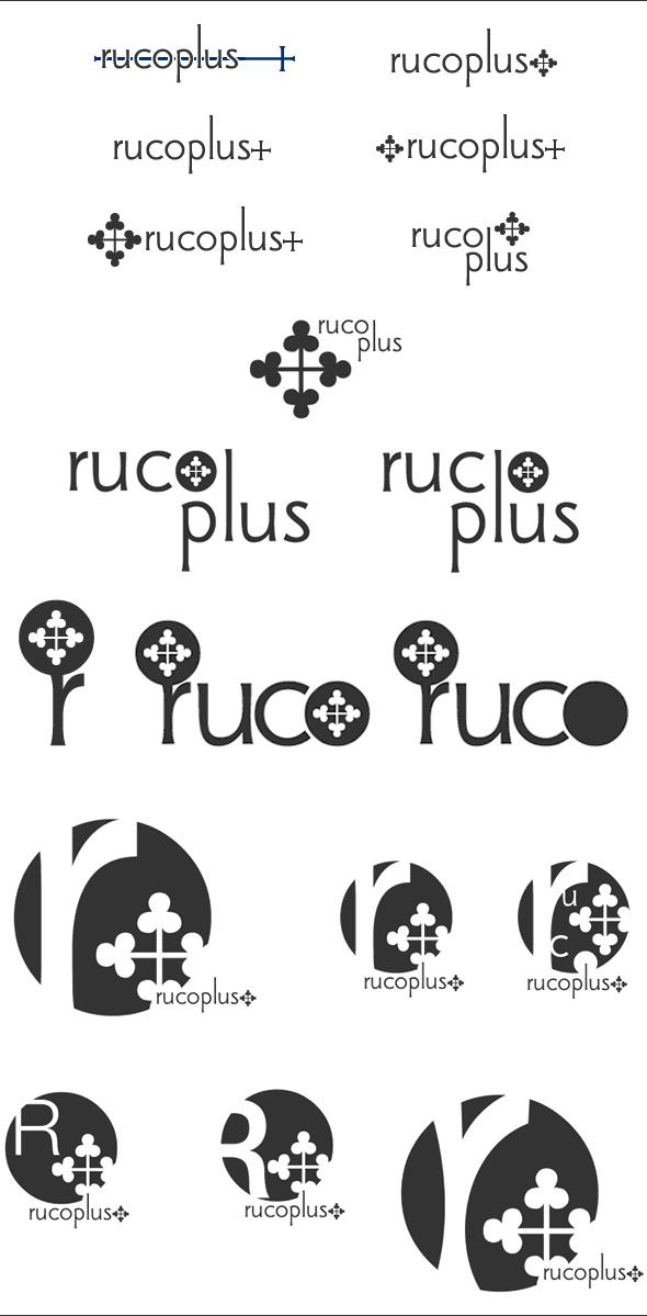 rucoplus+ ロゴのラフ