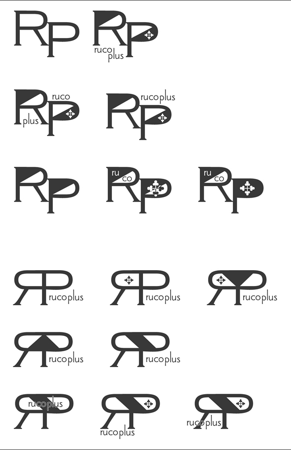 rucoplus+ ロゴのボツ