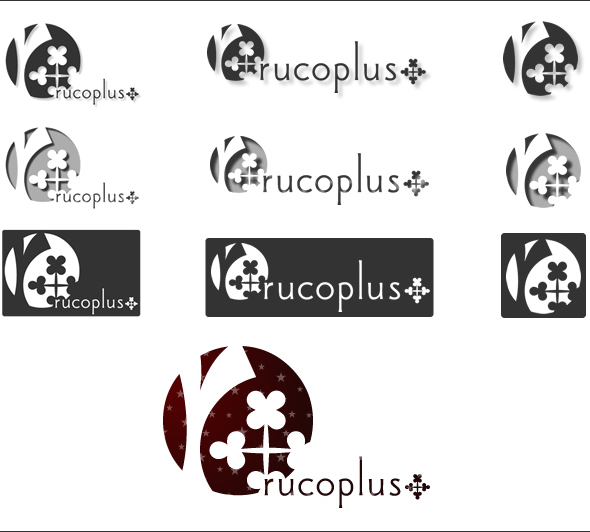 rucoplus+ ロゴのやっつけ例